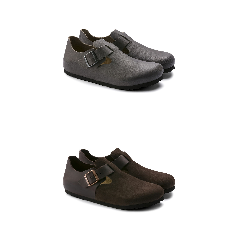 Birkenstock London Halbschuhe Schlüpfschuhe Leder Unisex Schuhe FS19