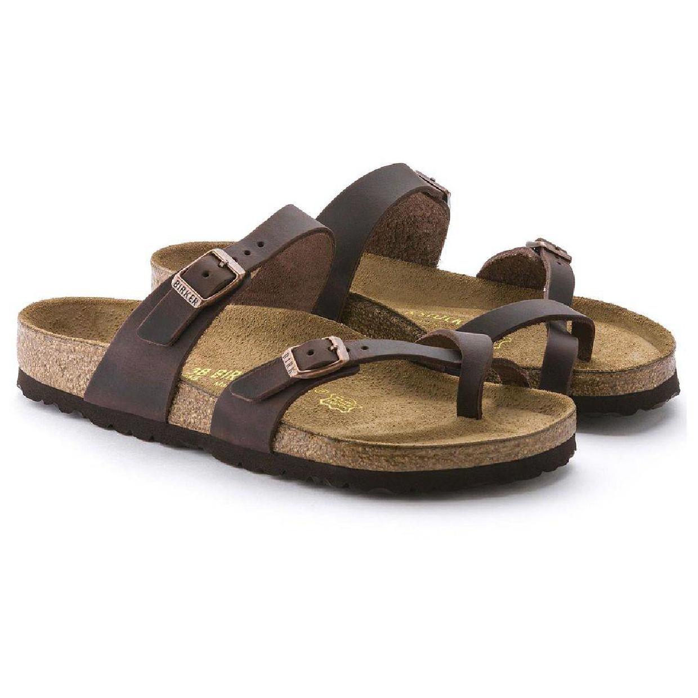 Birkenstock Mayari Zehentrenner Sandalen Leder Damen Schuhe CO