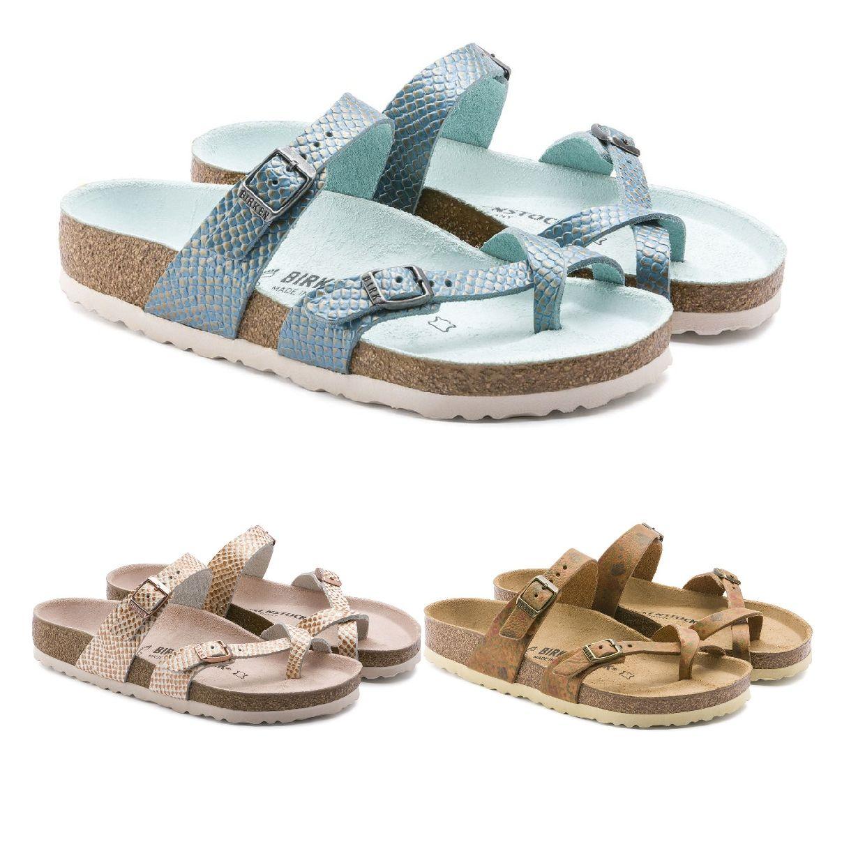 Birkenstock Mayari Zehentrenner Sandalen Leder Damen Schuhe FS19