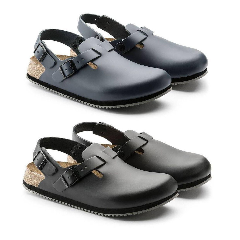 Birkenstock Tokio Super Grip Arbeitsschuhe Clogs Leder Unisex Schuhe CO
