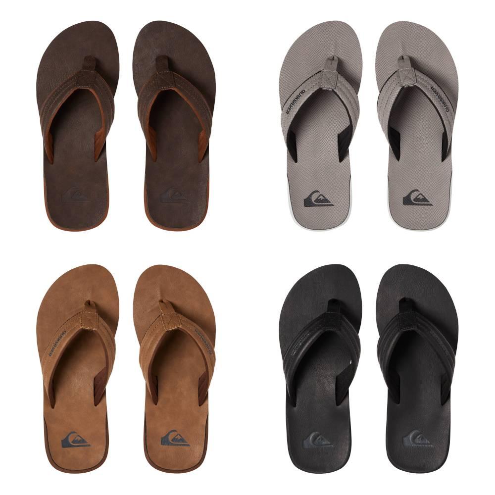 QUIKSILVER Carver Nubukleder Zehentrenner Zehenstegsandale Nubukleder Schuhe