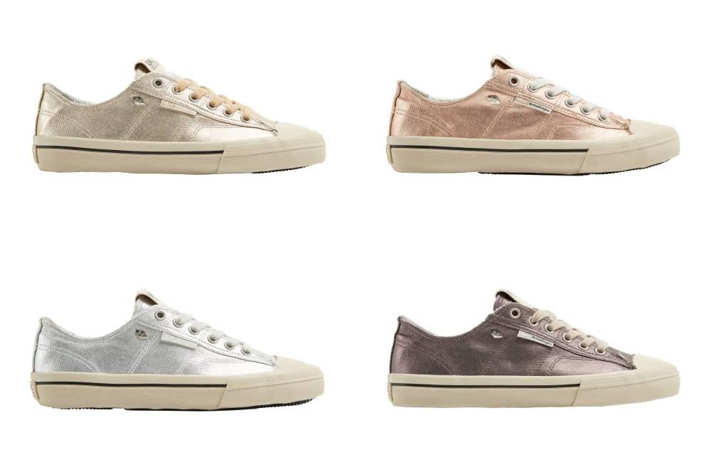 BRITISH KNIGHTS Chase Hi-Cut Sneaker Metallic Canvas Schuhe