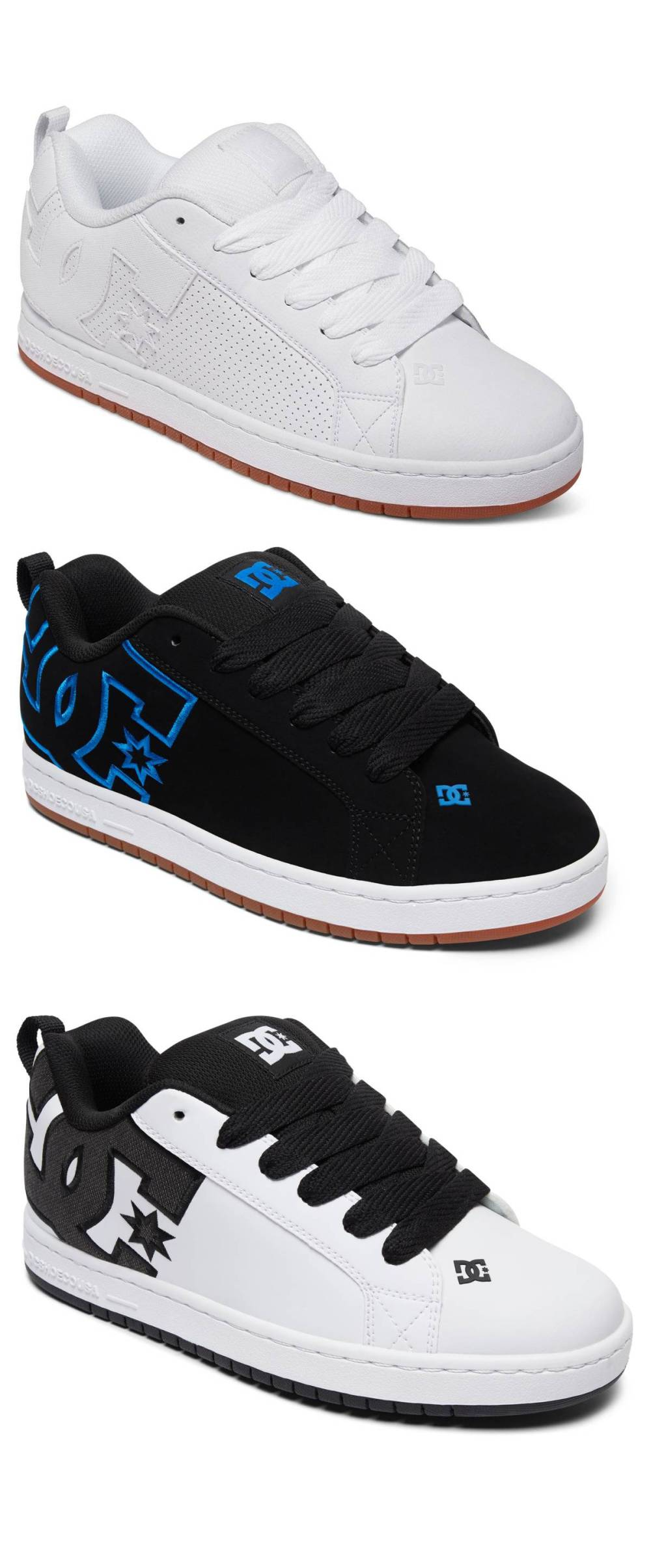 Dc Shoes Court Graffik Low-Cut Sneaker Skate Shoes Leather Textile Shoes