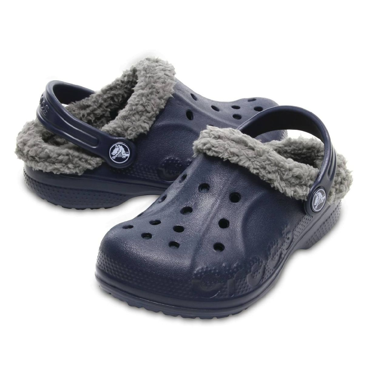 Crocs Bay Lined Kids Clogs Hausschuhe Synthetik Kinder Schuhe FS18EOL