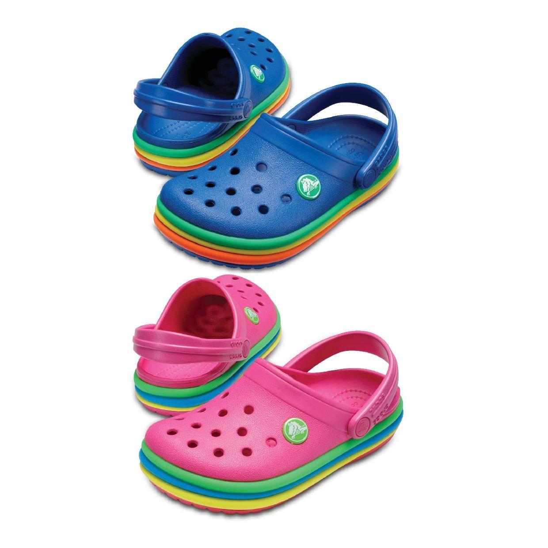 Crocs CB Rainbow Band Clog Kids Clogs Hausschuhe Synthetik Kinder Schuhe FS19