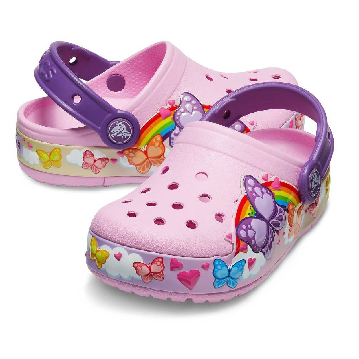 Crocs CFL ButterflyBand Lights Clg Kids Clogs HausSynthetik Kinder HW19