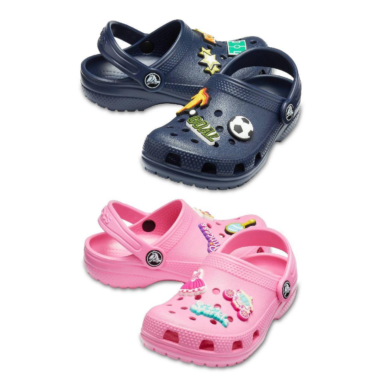 Crocs Classic Charm Clog Kids Clogs Hausschuhe Synthetik Kinder Schuhe HW19