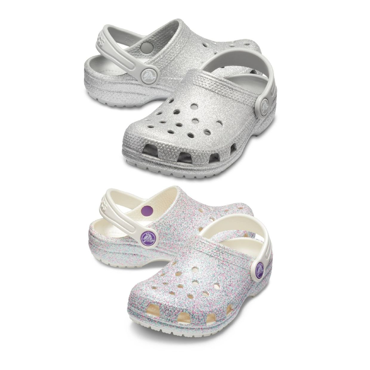 Crocs Classic Glitter Clog Kids Clogs Hausschuhe Synthetik Kinder Schuhe CO