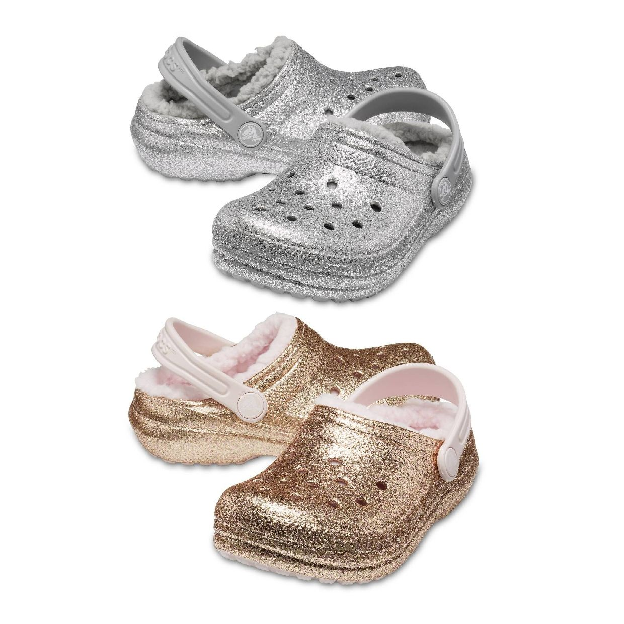 Crocs Classic Glitter Lined Clog Kids Clogs Synthetik Kinder Schuhe HW19