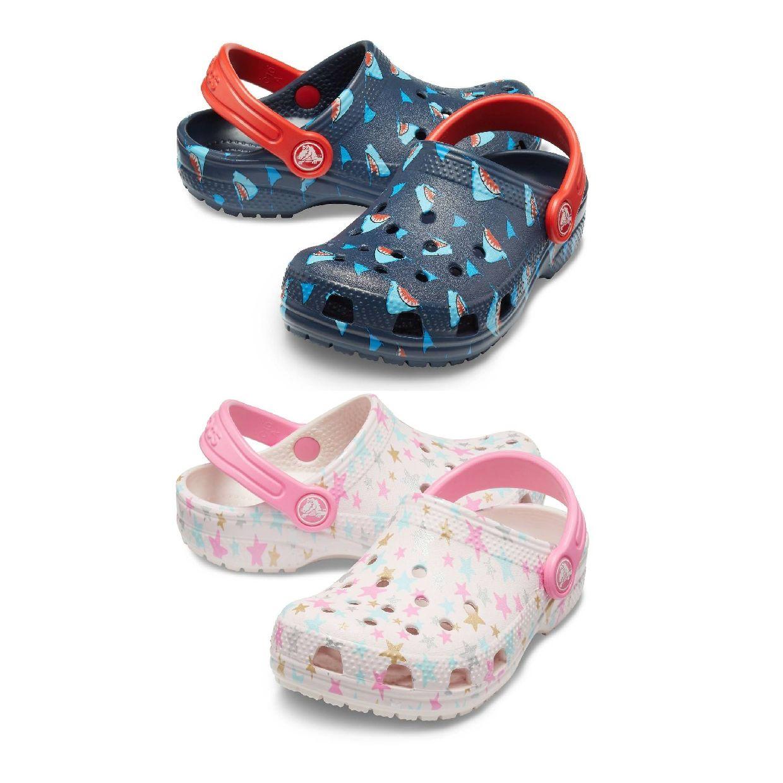 Crocs Classic Printed Clog Kids Clogs Hausschuhe Synthetik Kinder Schuhe HW19