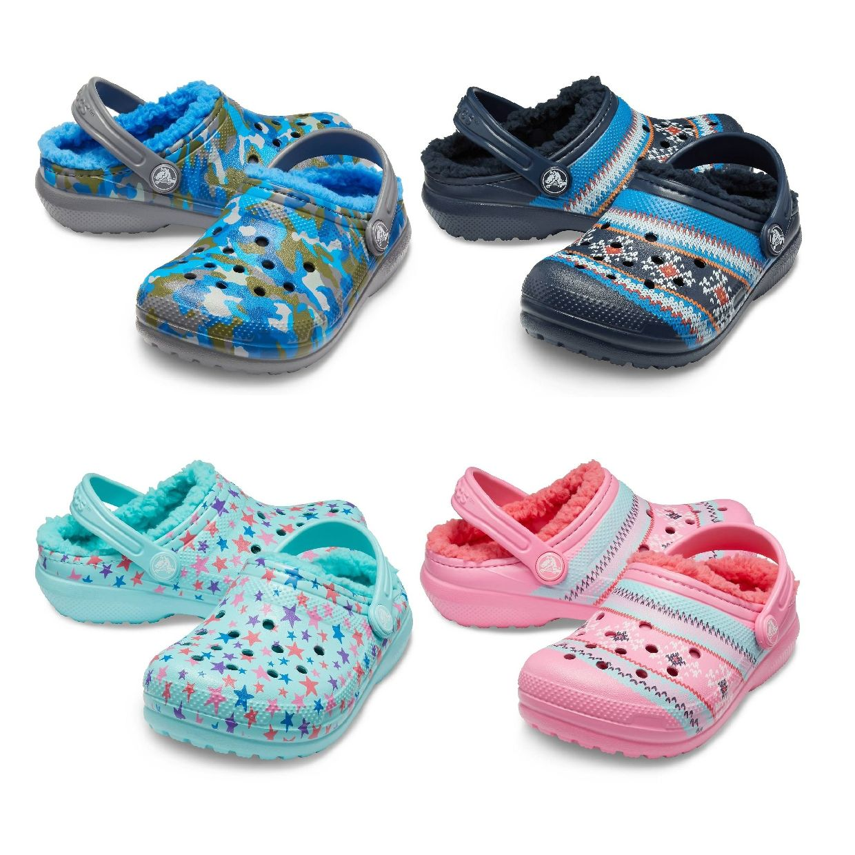 Crocs Classic Printed Lined Clog Kids Clogs Synthetik Kinder Schuhe HW19