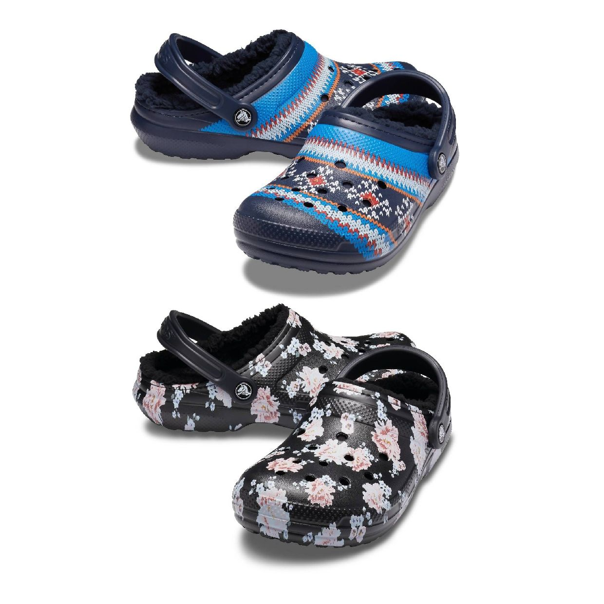 Crocs Classic Printed Lined Clog Clogs Gefütterte Synthetik Unisex HW19