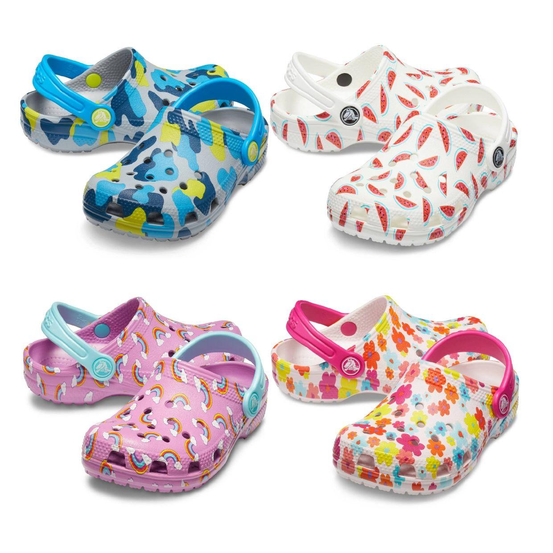 Crocs Classic Seasonal Graphic Clog Kids Clogs Synthetik Kinder Schuhe FS19