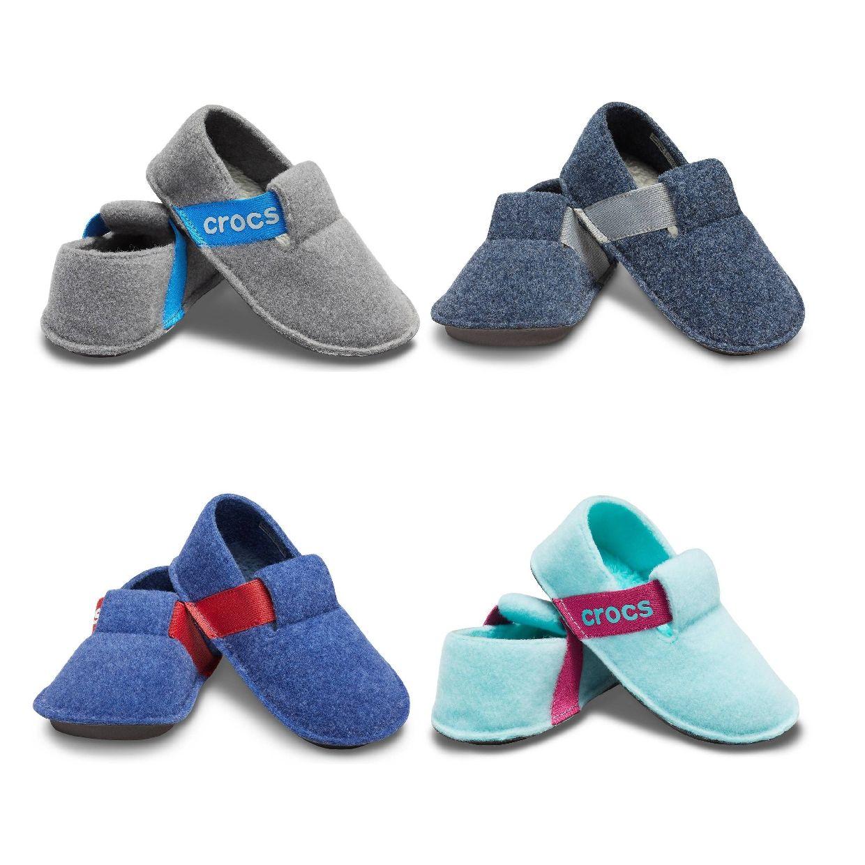 Crocs Classic Slipper Kids Sandalen Hausschuhe Textil Kinder Schuhe HW19