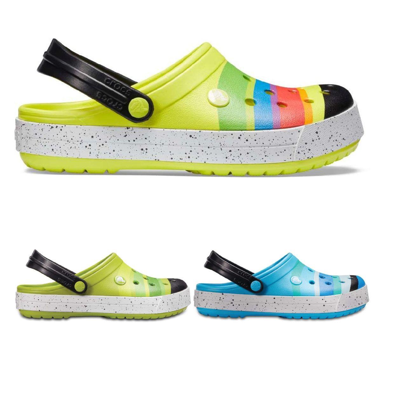 Crocs Crocband Color Burst Clog Clogs Hausschuhe Synthetik Unisex Schuhe FS18