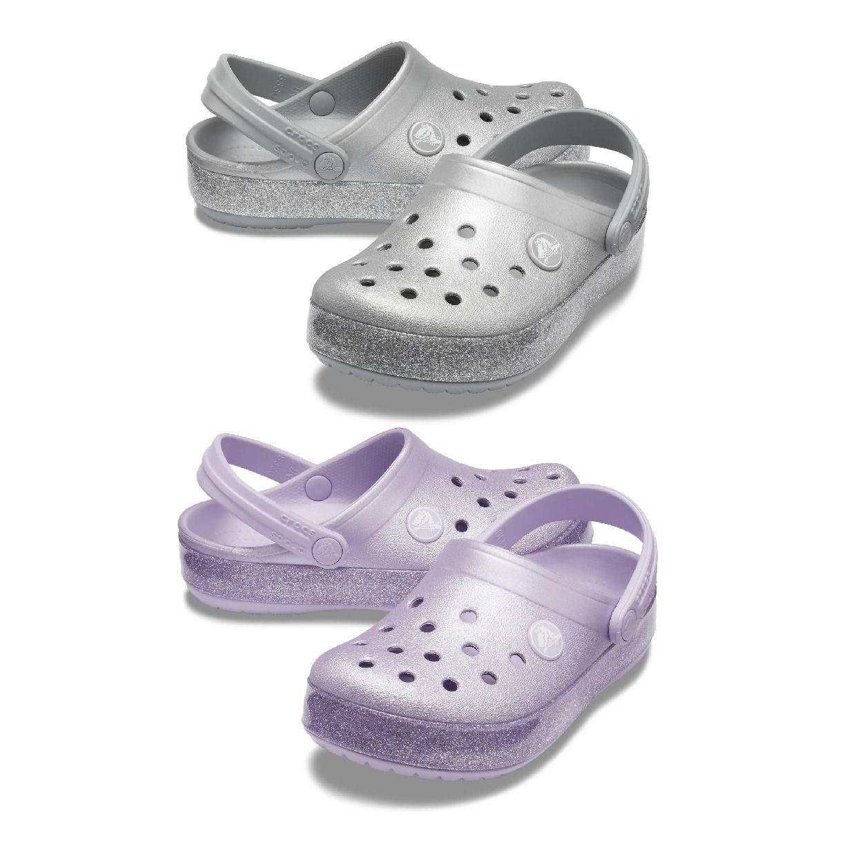 Crocs Crocband Glitter Clog Kids Clogs Hausschuhe Synthetik Kinder Schuhe HW19
