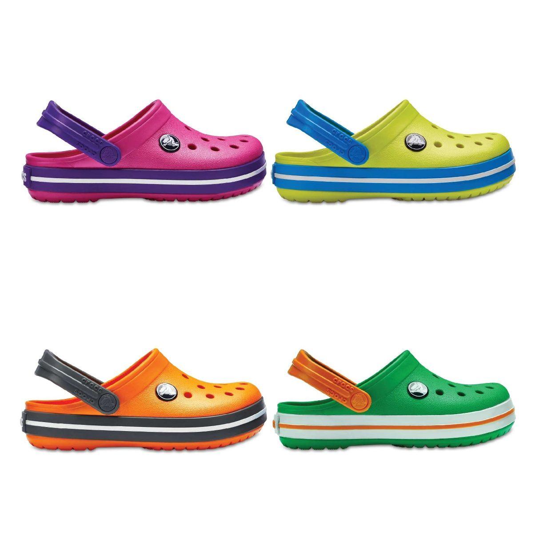 Crocs Crocband Kids Clogs Hausschuhe Synthetik Kinder Schuhe FS18