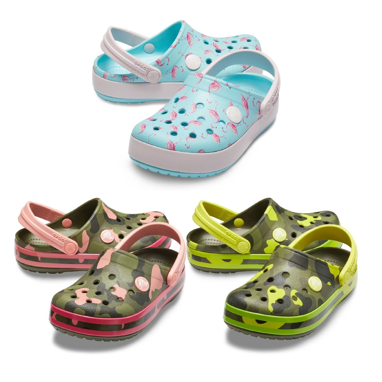Crocs Crocband MultiGraphic Clog Kids Clogs HausSynthetik Kinder FS19