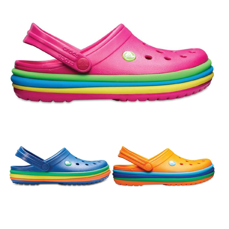 Crocs Crocband Rainbow Band Clog Clogs Hausschuhe Synthetik Unisex Schuhe FS18