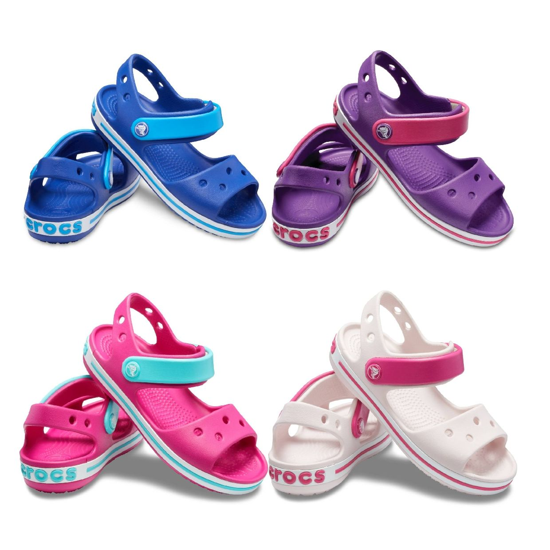 Crocs Crocband Sandal Kids Sandalen Hausschuhe Synthetik Kinder Schuhe FS19