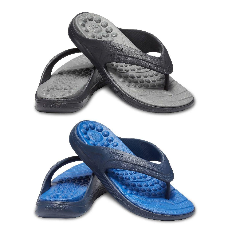 Crocs Crocs Reviva Flip Zehentrenner Hausschuhe Synthetik Unisex Schuhe HW19