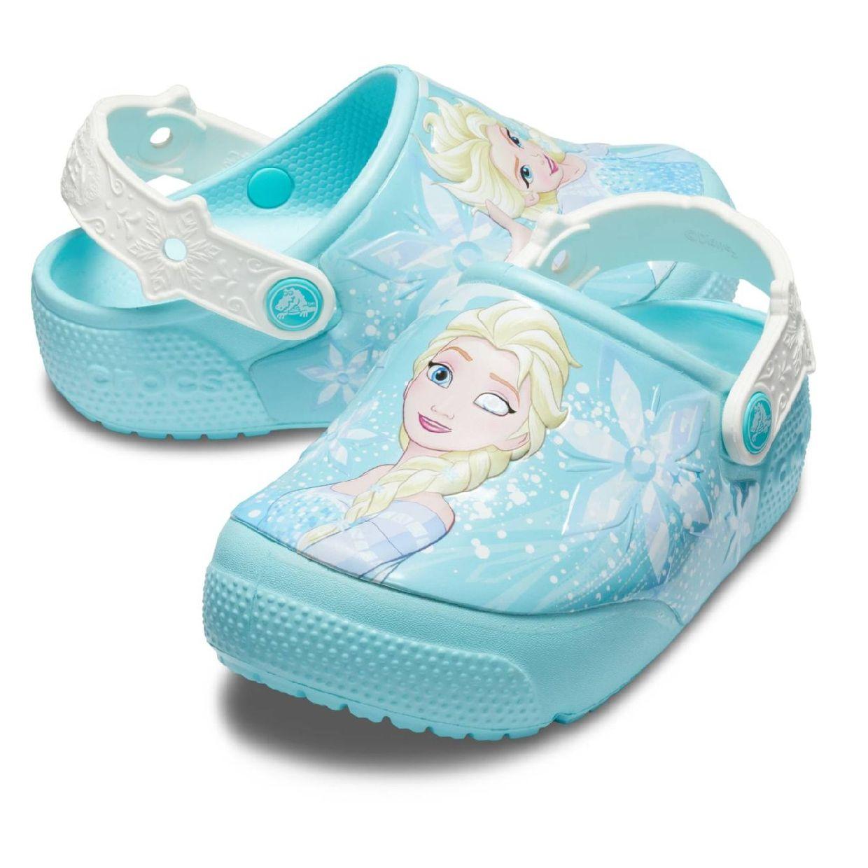 Crocs CrocsFL Frozen Elsa Light Clog Kids Clogs Synthetik Kinder Schuhe FS19