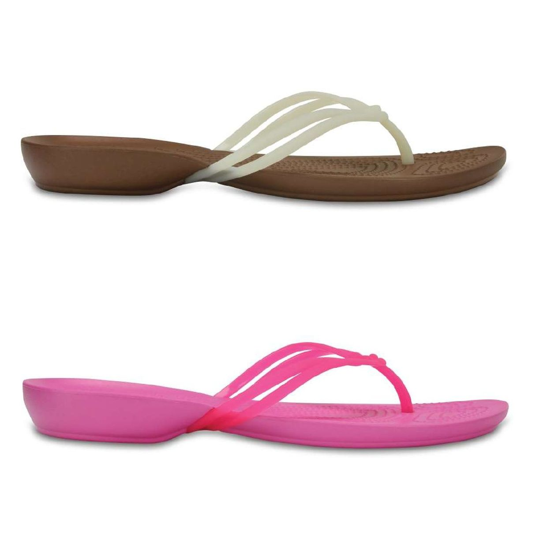 Crocs Isabella Flip Women Sandalen Zehentrenner Synthetik Damen Schuhe FS18