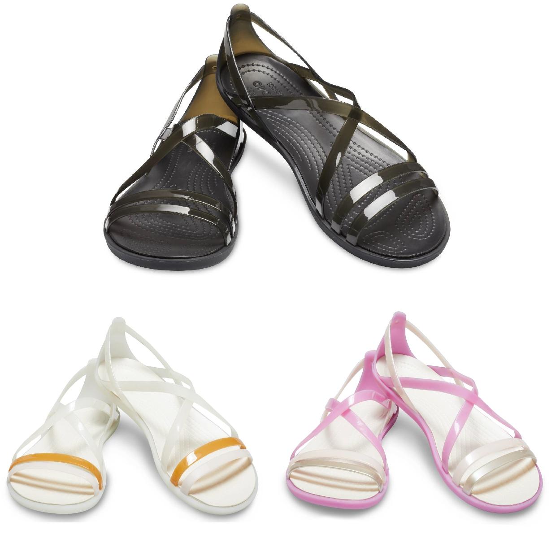 Crocs Isabella Strappy Sandal W Sandalen Ballerinas Synthetik Damen Schuhe FS19