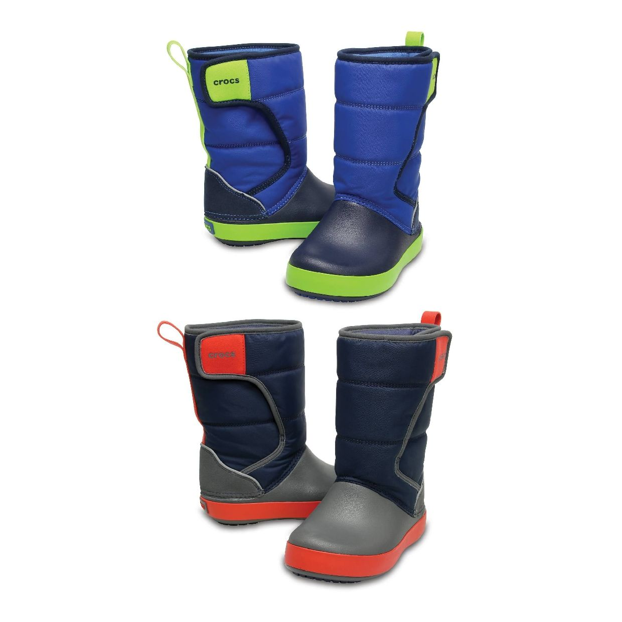 Crocs LodgePoint Snow Boot Kids Gummistiefel Stiefel Synthetik Kinder Schuhe CO