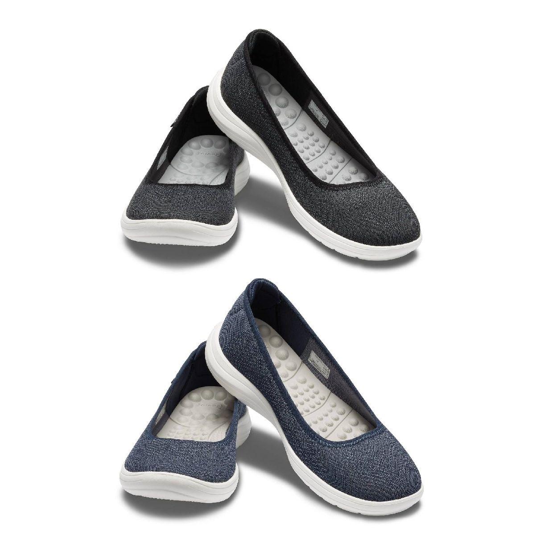 Crocs Reviva Flat W Ballerinas Hausschuhe Synthetik Damen Schuhe HW19