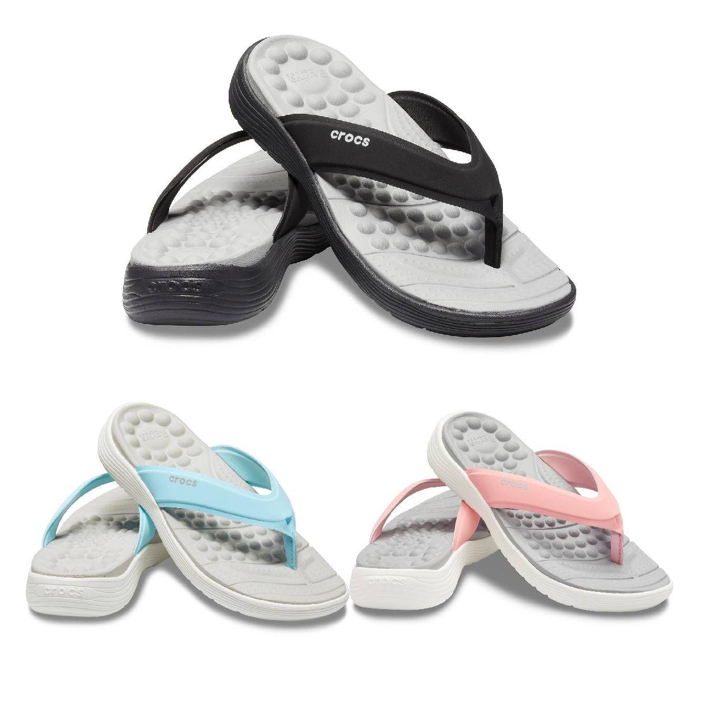 Crocs Reviva Flip W Zehentrenner Sandalen Synthetik Damen Schuhe HW19