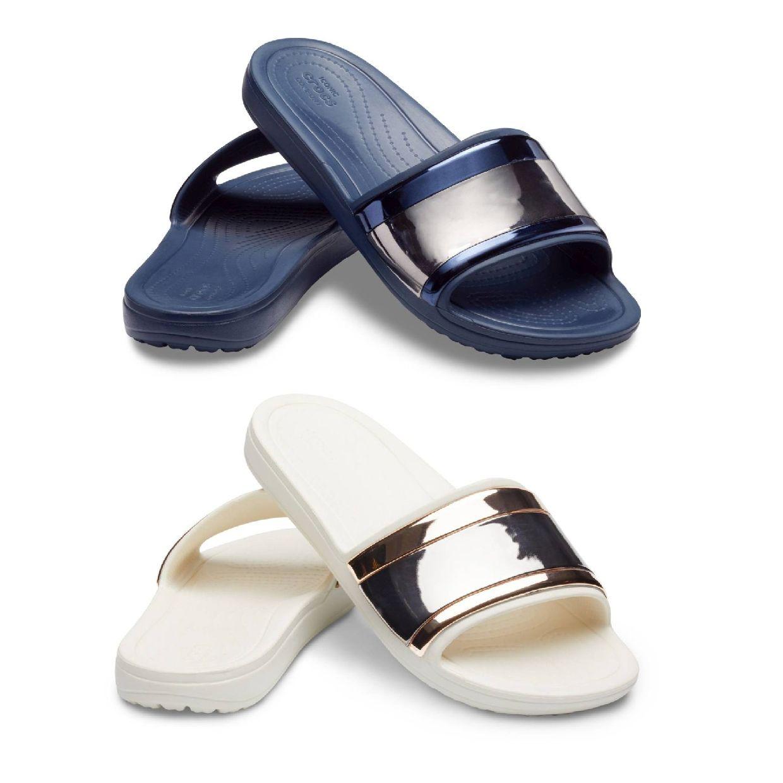 Crocs Sloane MetalBlock Sandal W Sandalen Ballerinas Synthetik Damen Schuhe FS19