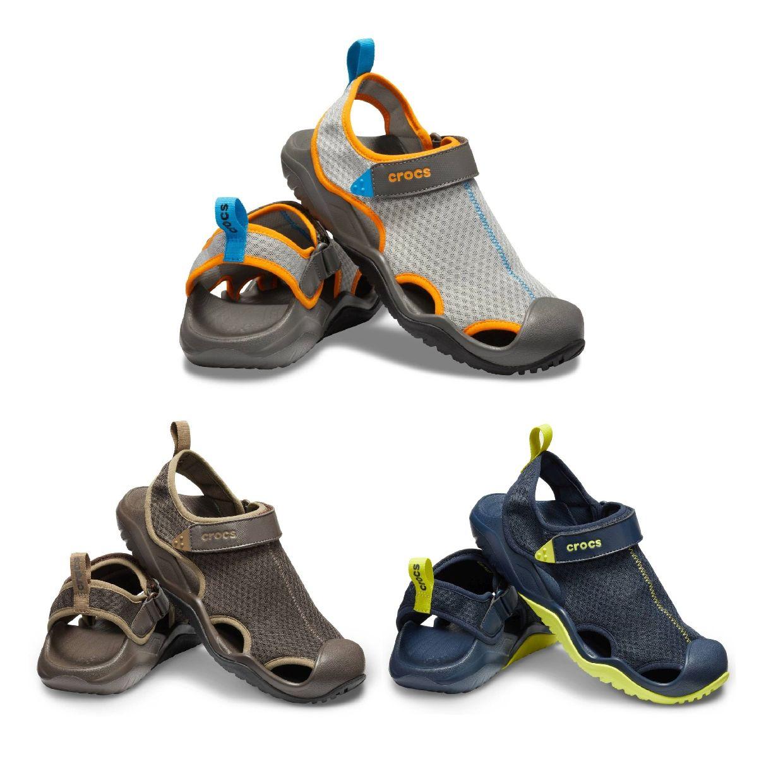 Crocs Swiftwater Mesh Deck Sandal Clogs Hausschuhe Synthetik Unisex Schuhe FS19