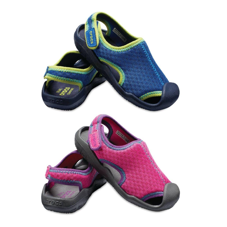 Crocs Swiftwater Sandal Kids Sandalen Hausschuhe Synthetik Kinder Schuhe FS19