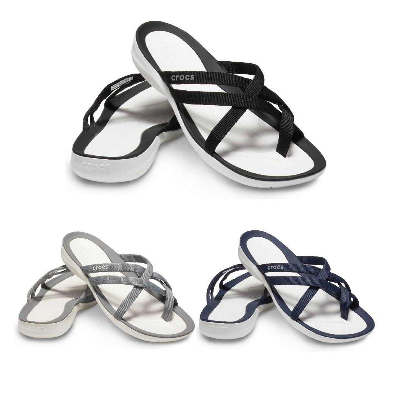 Crocs Swiftwater Webbing Flip W Sandalen Ballerinas Synthetik Damen Schuhe FS19