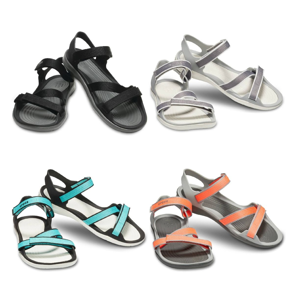 Crocs Swiftwater Webbing Sandal W Sandalen Ballerinas Synthetik Damen FS19