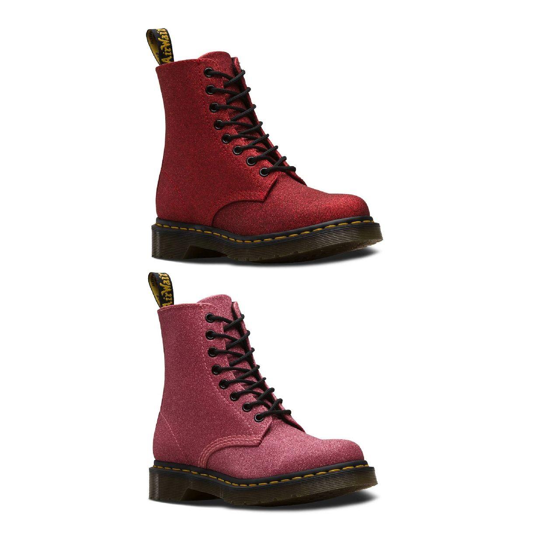 Dr. Martens Pascal Glitter Stiefel Schnürschuhe Synthetik Damen Schuhe FS19