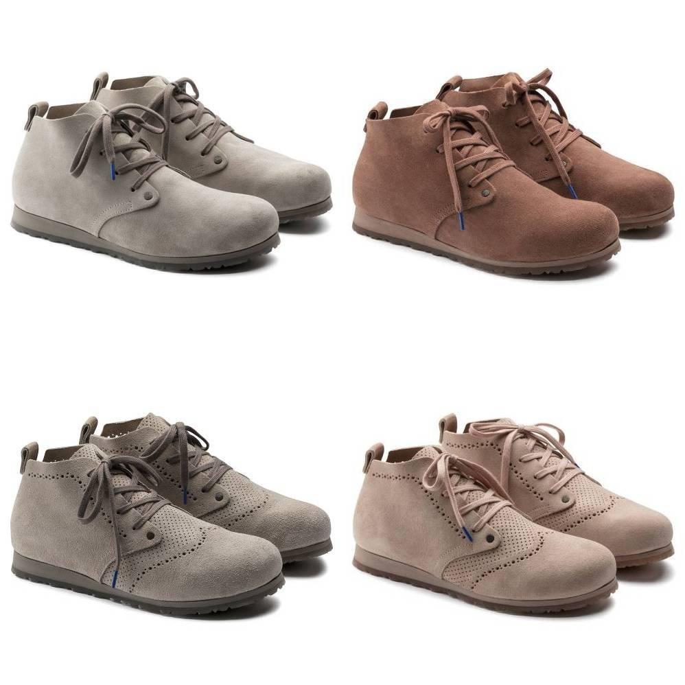 BIRKENSTOCK Dundee Plus Halbhohe Stiefel VelourLeder Damen Schuhe