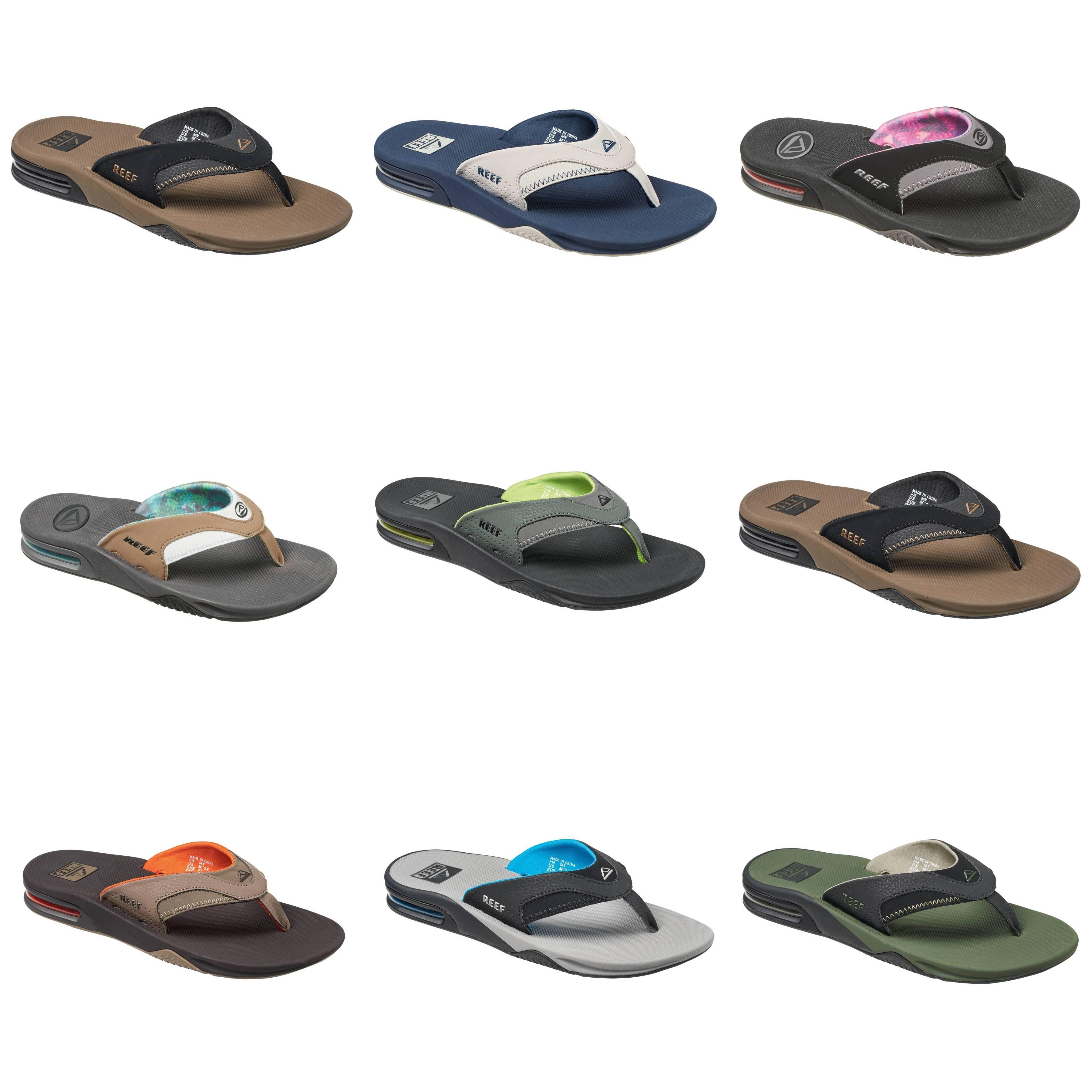REEF Fanning Zehentrenner Zehenstegsandale Nubuk Gummi Schuhe