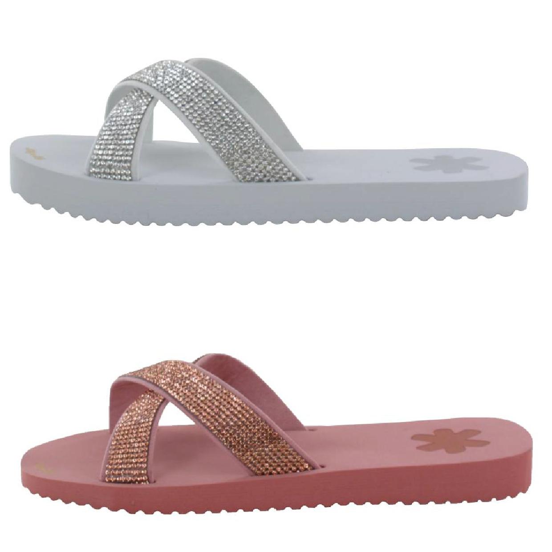 Flip*Flop Cross Glam Sandalen Gummi Damen Schuhe FS18