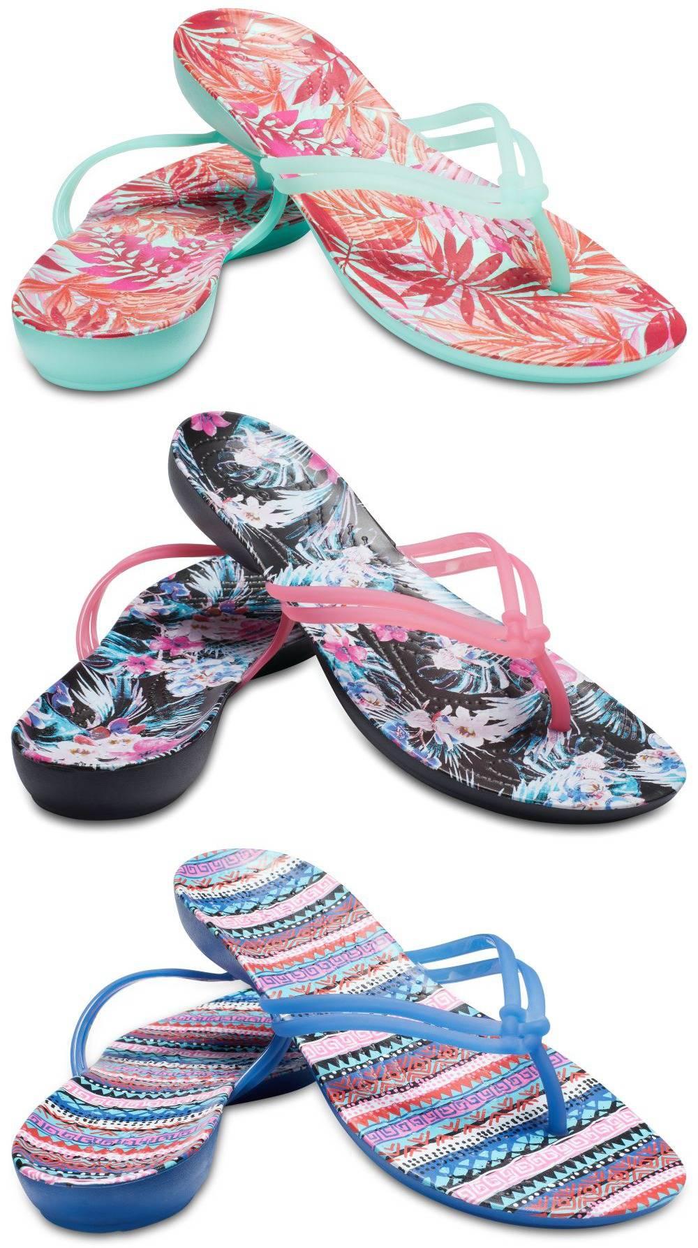 CROCS Isabella Graphic Flip Women Zehenstegsandale Schuhe