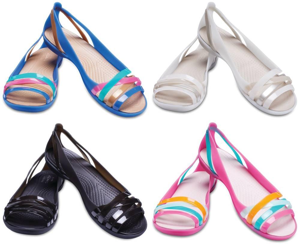 CROCS Isabella Huarache Flat 2 Women Sandalen Ballerina Schuhe