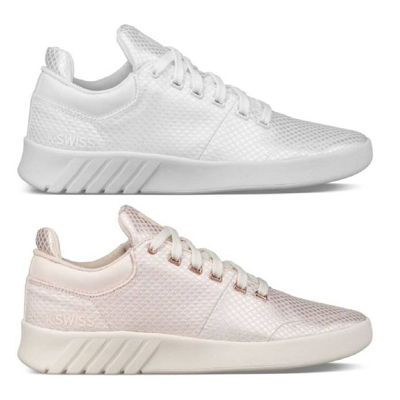 K-Swiss Aero Trainer T Sneaker Halbschuhe Leder Damen Schuhe FS18