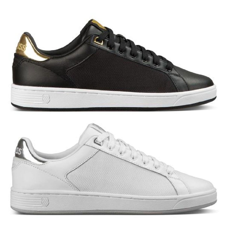 K-Swiss Clean Court CMF Women Sneaker Halbschuhe Leder Textil Damen Schuhe FS17