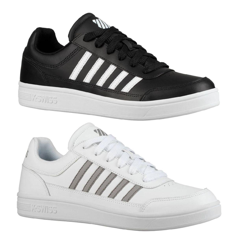 K-Swiss Court Chasseur Sneaker Halbschuhe Leder Textil Herren Schuhe FS19