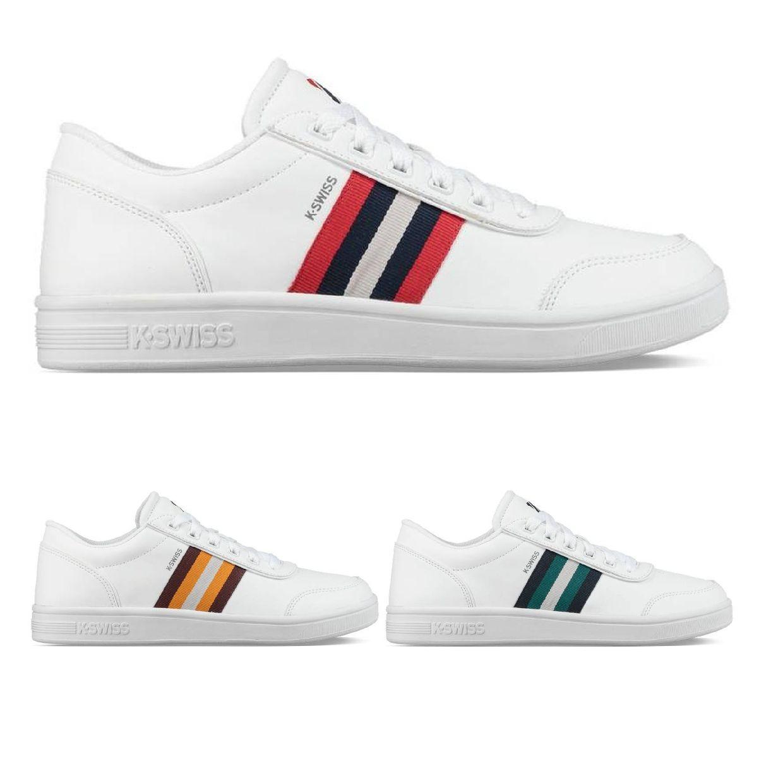 K-Swiss Court Clarkson S Sneaker Halbschuhe Leder Herren Schuhe HW18