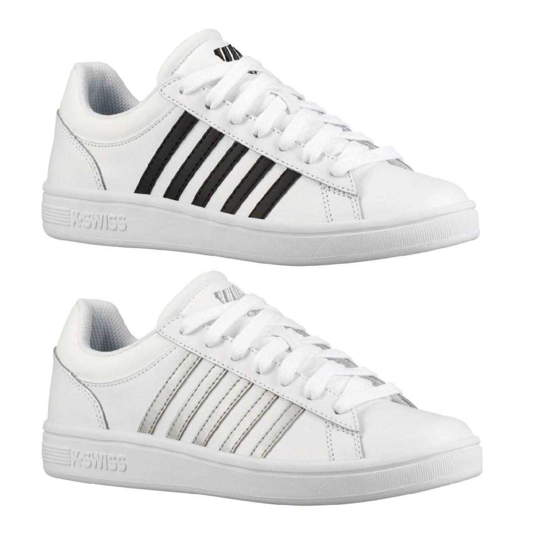 K-Swiss Court Winston Sneaker Halbschuhe Leder Damen Schuhe HW19