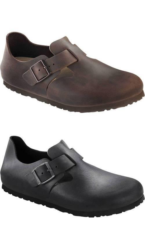 BIRKENSTOCK London Halbschuhe Fettleder Unisex Schuhe