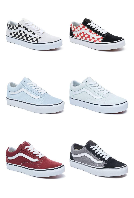 Details zu VANS Old Skool Low Cut Sneaker Freizeitschuhe Leder Textil Schuhe