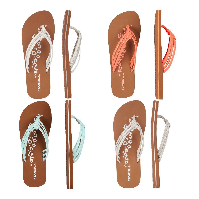 O´Neill 3 Strap Ditsy Sandalen Zehentrenner EVA Damen Schuhe FS19